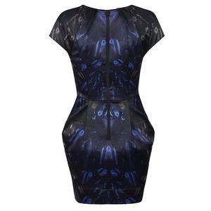 All Saints Spitalfields Opium Dress Printed Blue